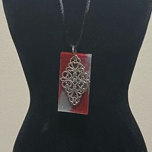 Jewelry - Handmade Resin Necklace Pendants w/ Two Necklaces.